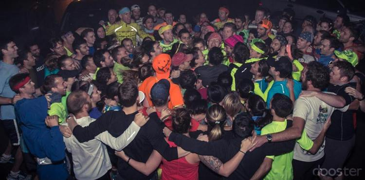 Group hug before Friday's massive hill workout